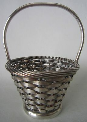 Vintage NEWPORT EP Silver Plate WOVEN Handled Small Easter BASKET YB-178