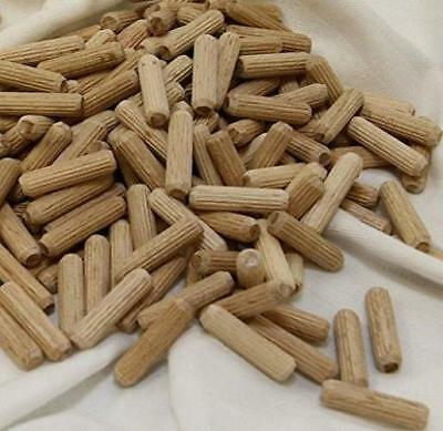 1000 Pack 30*8mm Grooved Fluted Wooden Dowel Pin , Wood Pieces,Fluted