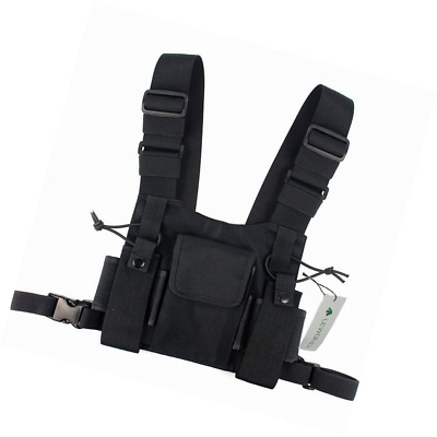 Lewong Universal Hands Free Chest Harness Bag Holster for Two Way Radio ( Rescue