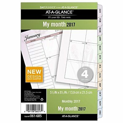 Day Runner Two Page Per Month Refill 2017, Monthly, Loose-Leaf, 5-1/2 x