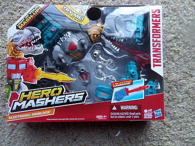 TRANSFORMERS: HERO MASHERS • ELECTRONIC GRIMLOCK New in Box