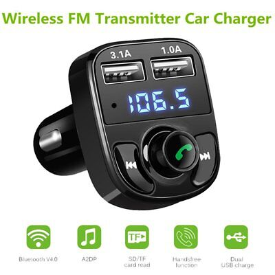 Bluetooth Car Kit MP3 Player FM Transmitter  Dual USB Charger For iPhone Samsung