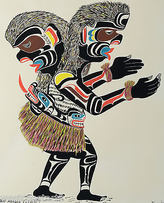 Chief Henry Speck Painting Two Headed Giant NWC Canadian Listed Native Artist