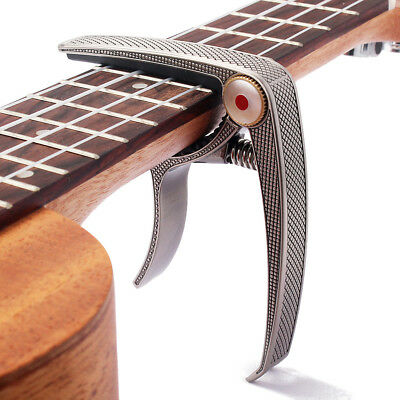 Guitar Capo Quick Change Trigger Clamp for Acoustic Electric Guitar Ukulele Bass