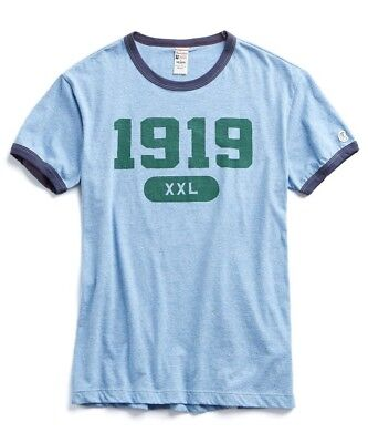 c4faf0d31562e Todd Snyder + Champion Men s Ringer Graphic Tee Shirt Made in Canada Blue  NEW L
