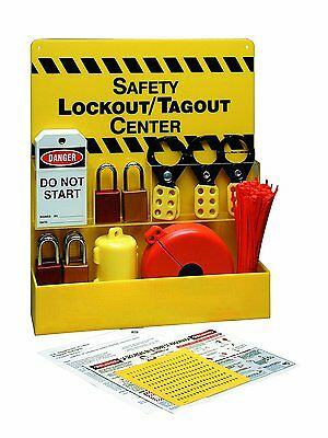 Safety Lock/Tag out Center Station Filled:Hasps,Do Not Start,Ties,CFR,Plug,Cover