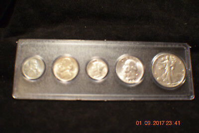 """1943-P (5) Coin Year Set  ...beautiful """"uncirculated"""" silver set!..#1503"""