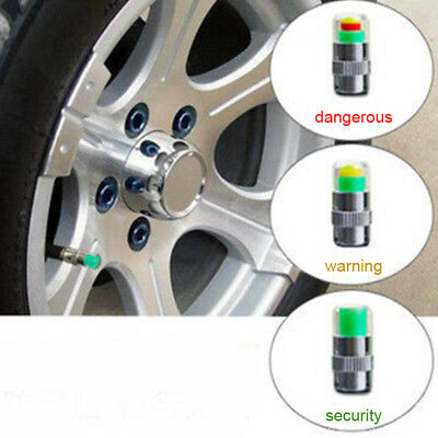 4PCS Auto Car Tire Pressure Monitor Valve Warning Cap Sensor Indicator Eye Alert
