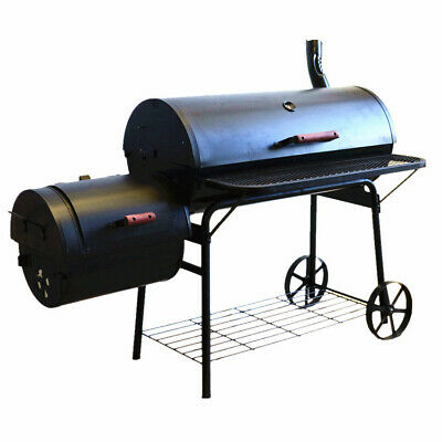 New Luxurious Super-Large Charcoal Texas Style BBQ Offset Smoker Stove - (#2036)