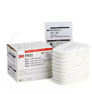 10~100pcs 5N11 N95 Cotton Filter for 3M 6200 Facepiece Respirator Gas Mask NEW