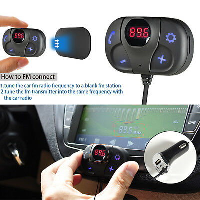 Bluetooth FM Transmitter USB Charger Wireless Car Kit Music Player For iPhone 8