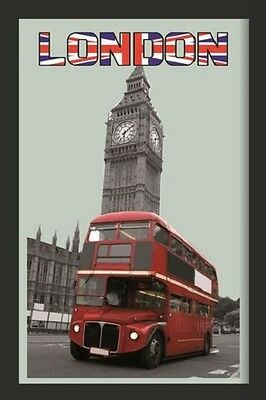London Bus with Big Ben Nostalgia Bar Mirror Mirror Bar Mirror 8 11/16x12 5/8in