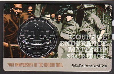2012 70th Anniversary of Kokoda Trail 50c Fifty Cent Royal Australian Mint Coin