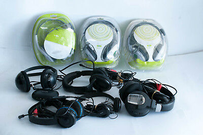Job Lot of  8x Branded  Gaming Headphones Untested RAW Returns