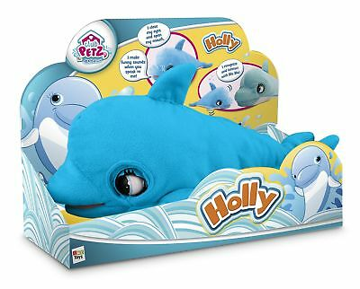 Blu Blu The Baby Dolphin Interactive Kids Child Talking Plush Toy Xmas Gift NEW