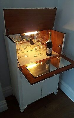 *RARE* Turnidge of London Retro Vintage Mid-century Mirrored Drinks Cabinet