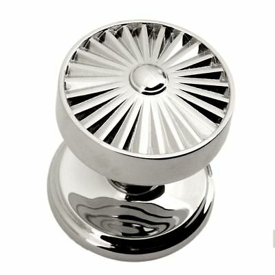 Radial Style Front Door Knob in a Chrome Finish