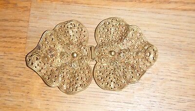 Vintage Brass Coloured Metal Ladies Belt Buckle