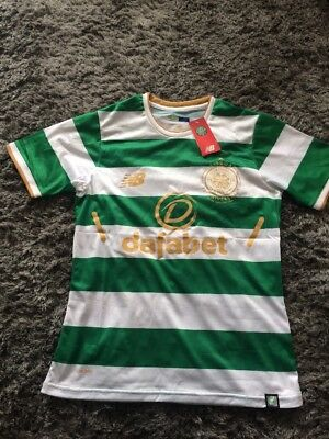 Celtic 2017/18 Small New Balance Home Shirt Brand With Tags