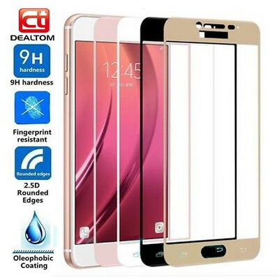 3D Full Cover Tempered Glass Screen Protectors Film For Samsung Galaxy J3 J5 J7