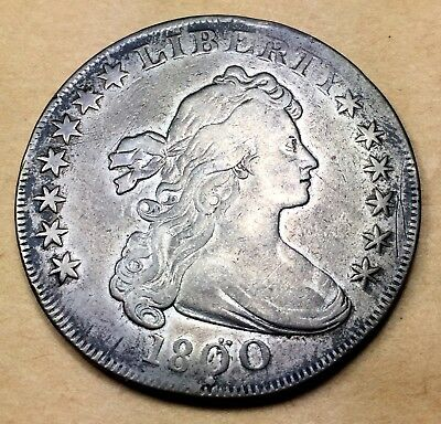 1800 Dotted Date Draped Bust Dollar VF/XF