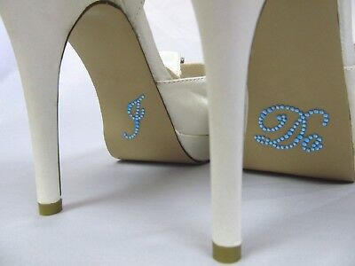 I Do Rhinestone Stickers for Bridal Shoes Something Blue Wedding Bride Shoes