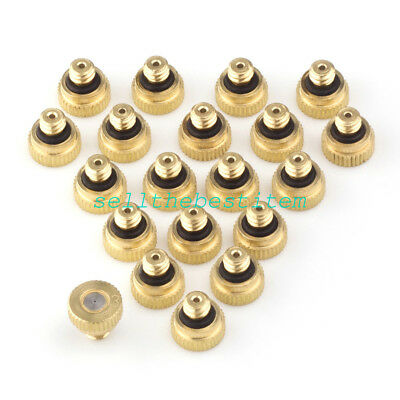 """Brass Misting Nozzles for Cooling System 0.012"""" (0.3 mm) 10/24 UNC Garden 20pcs"""