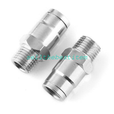"""2pcs 3/8"""" Stainless Steel Valve Connector Fitting"""