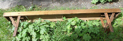 Antique Old School Folding Bench