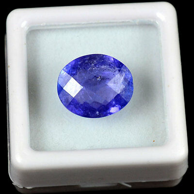 TOP QUALITY NATURAL 5 Cts Loose Oval CHECKER CUT TANZANITE RING SIZE GEM