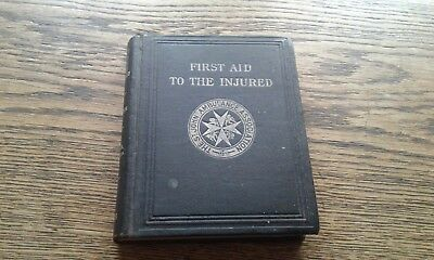 Antique 1916 St Johns Ambulance Book First Aid to the Injured Skeleton Diagram