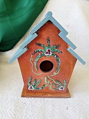 Decorative Bird House Hand Made, Hand Painted