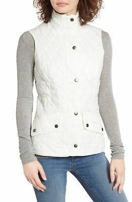 Barbour Flyweight Calvary Quilted Women's Vest Cloud NWT MSRP $179