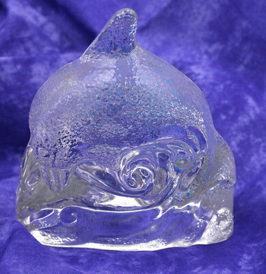 Glass Dolphin Votive Candle Holder