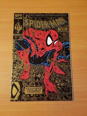 Spider-Man #1 Gold Variant ~ NEAR MINT NM ~ (1990, Marvel) Todd McFarlane