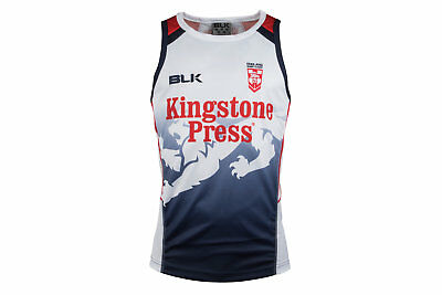 BLK England Rugby League 2017 Players Training Singlet Top Sports Training