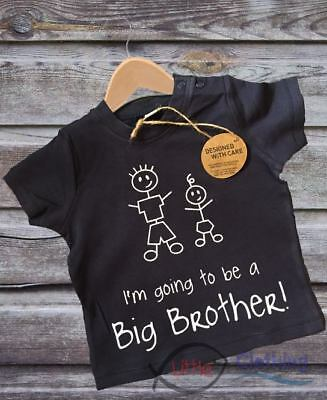 Navy Baby Boys Gift 'I'm Going To Be A Big Brother T-Shirt New 3 mths -2 years