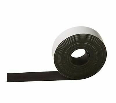 3M Meter Self-Adhesive Magnetic Tape 25Mm Strong Strip Wide Flat Surfaces S53