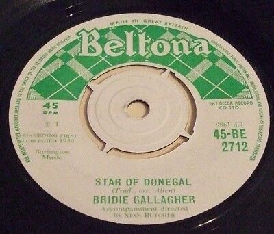 Bridie Gallagher 1959 Uk 45 - Star Of Donegal
