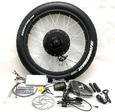 "Pedalease 48v 1500W electric bike fat tyre conversion Kit LCD 26"" / 20"" wheel"