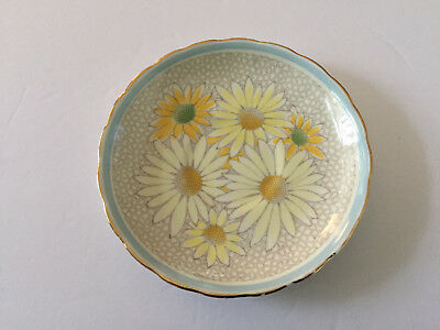 Royal Tuscan China PLANT Blue Band, Daisies, Scalloped, Gold Trim TEA CUP SAUCER