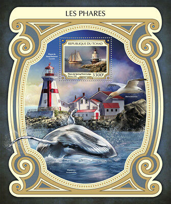 Chad 2017 MNH Lighthouses Spring Point Ledge Lighthouse 1v S/S Ships Stamps