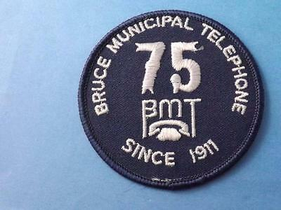 Bruce Municipal Telephone Since 1911 Bmt Patch 75 Years Anniversary Vintage
