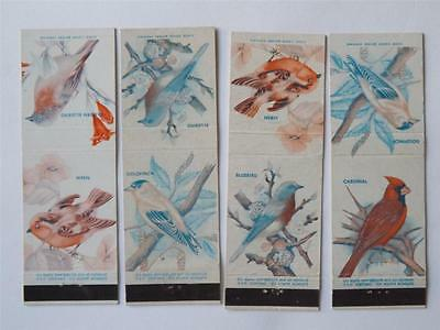 Bird Collector Vintage Matchbook Lot Wren Bluebird Cardinal Goldfinch