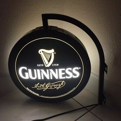 Guinness Globe Lighted Wall Sign. Everbrite Guinness Double Faced Globe. Beer