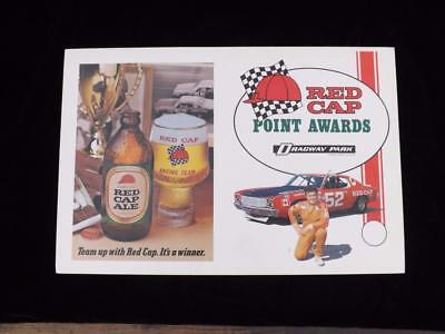 Caling's Red Cap  Label Metal Coaster  Brewery Advertising Collector Opener Sign