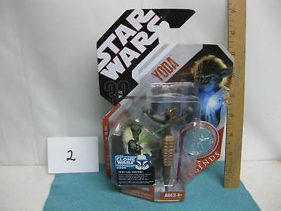 Star Wars action figure, sealed in package, Yoda Saga Legends, has coin, 2007