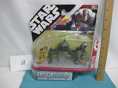 Star Wars action figure, sealed in package, Battle Droid Factory, 3 Droids, 2007