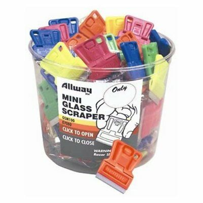 Allway Tools Gsm100 100 Piece Mini Glass Scraper Bucket