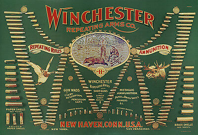 """""""winchester Double W Cartridge"""" Advertising Poster"""